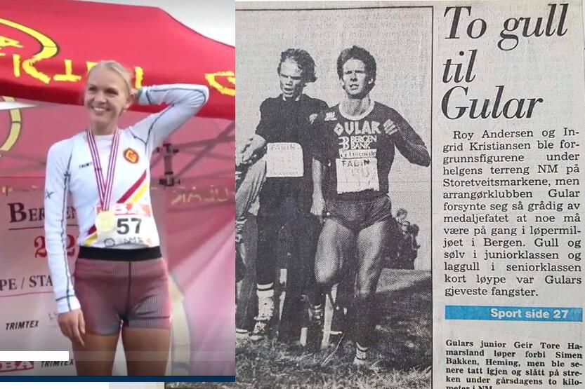 Ine Bakken kopierte farens prestasjon fra 1986: å bli norgesmester i terrengløp.