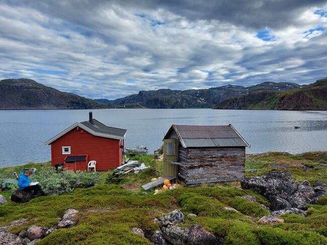 Must-hytta i Kobbholmfjorden.