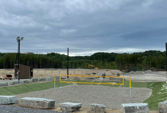Bilde av sandvolleyballbane