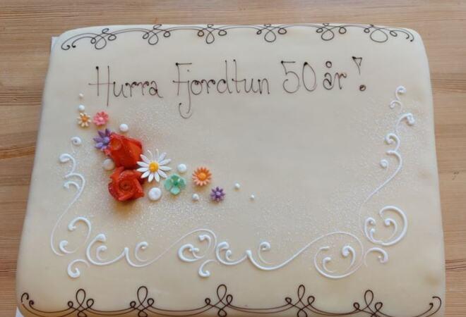 Fjordtun 50 år kake