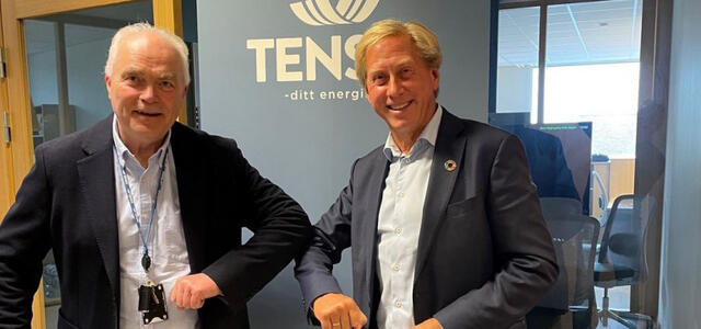 CEO Trygve Kvernland (t. v.) Tensio og CEO Nils Klippenberg fra Siemens