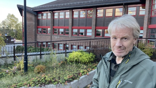 Prosjektleder Nils Øyvind Bø utenfor Rælingen rådhus