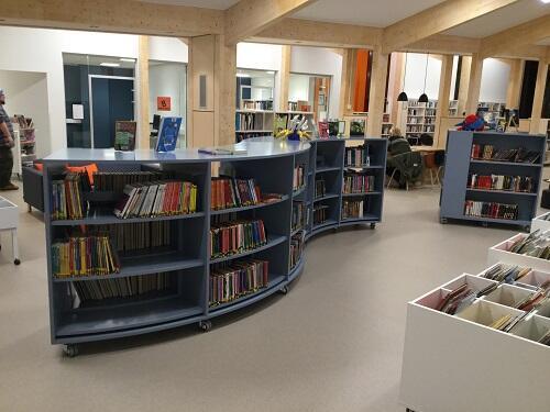 Interiør Seljord bibliotek