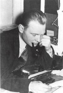 Arvid Hanssen som journalist ca. 1957