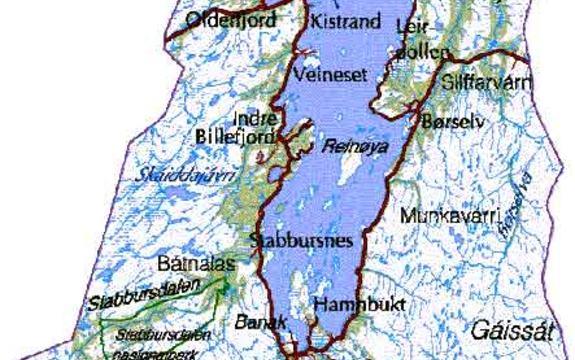 Kart over Porsanger