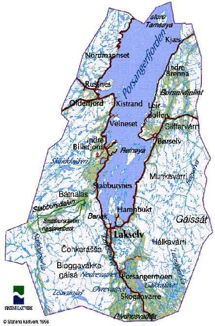 kart over porsanger Bredbånd i Porsanger   Porsanger kommune kart over porsanger